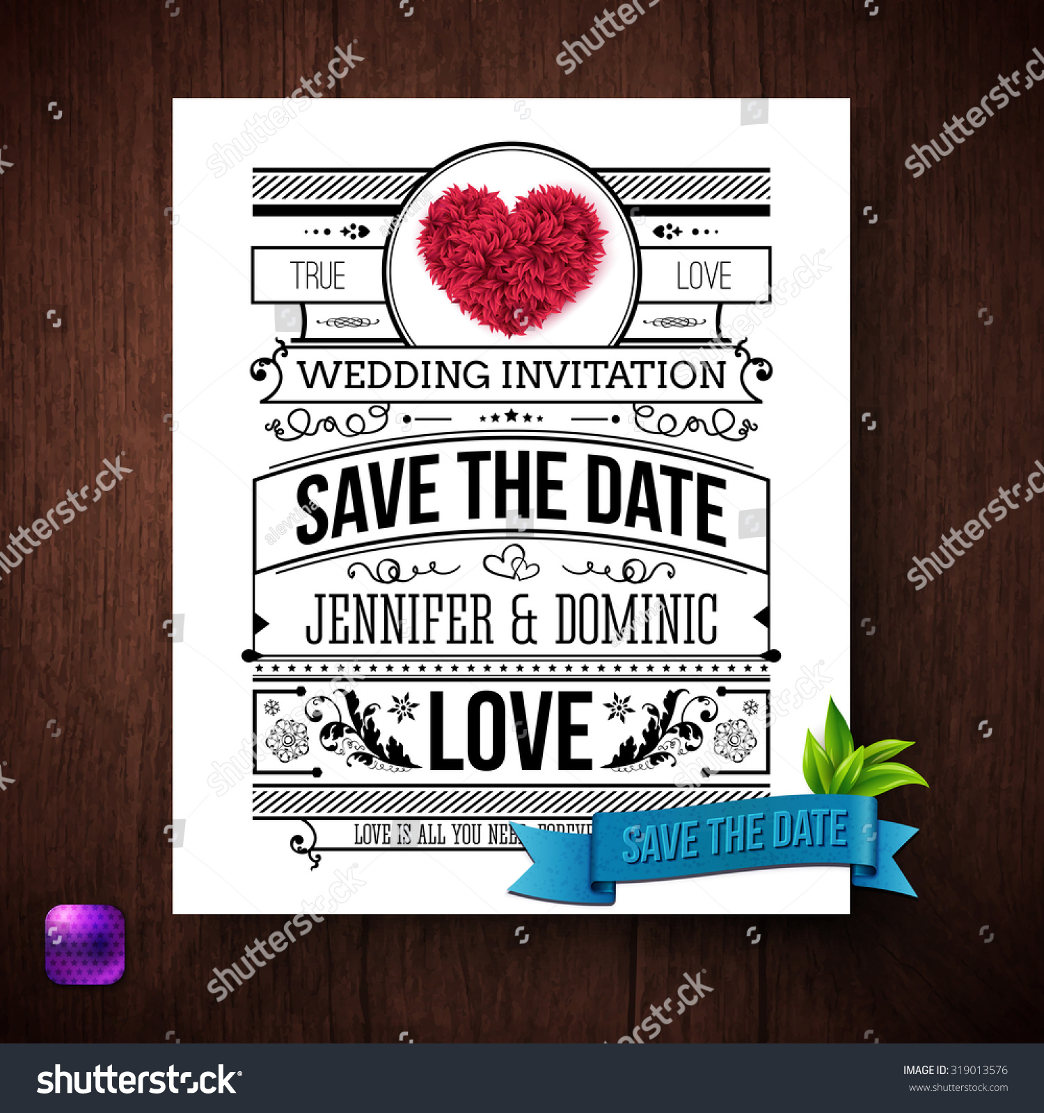 save date wedding invitation template black stock vector royalty