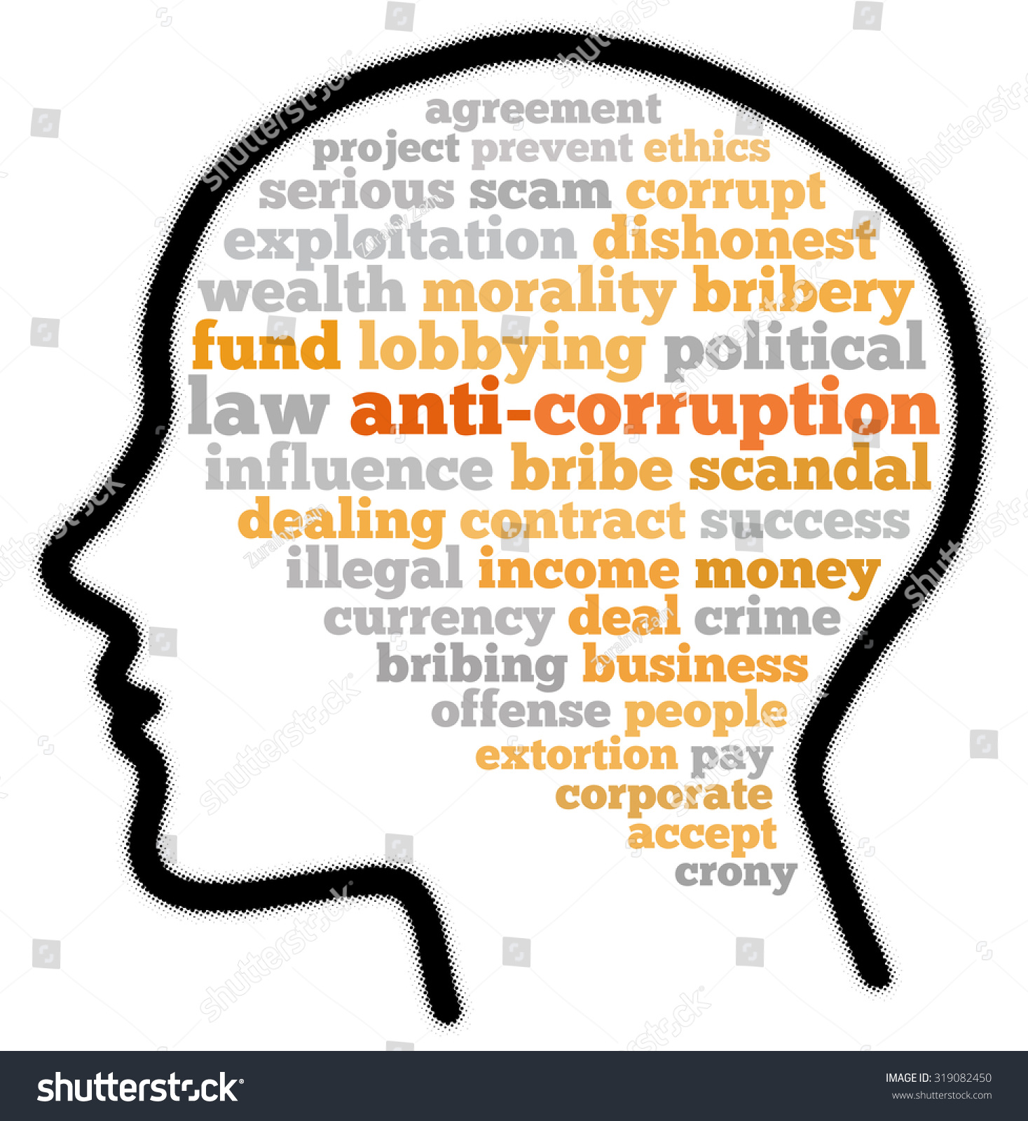 Anticorruption Word Cloud Concept Stock Illustration 319082450