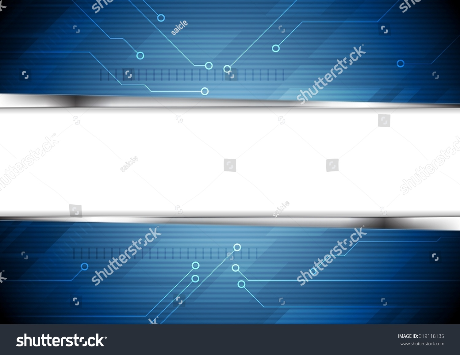 Tech Striped Background Circuit Board Elements Stock Vector Royalty Design Electrical Circuits With
