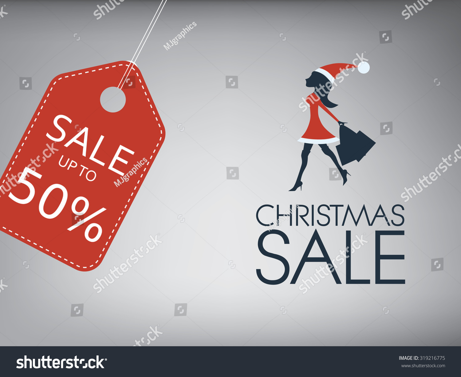 christmas poster holiday s vector stock vector  christmas poster holiday s vector template sexy w in santa dress and hat