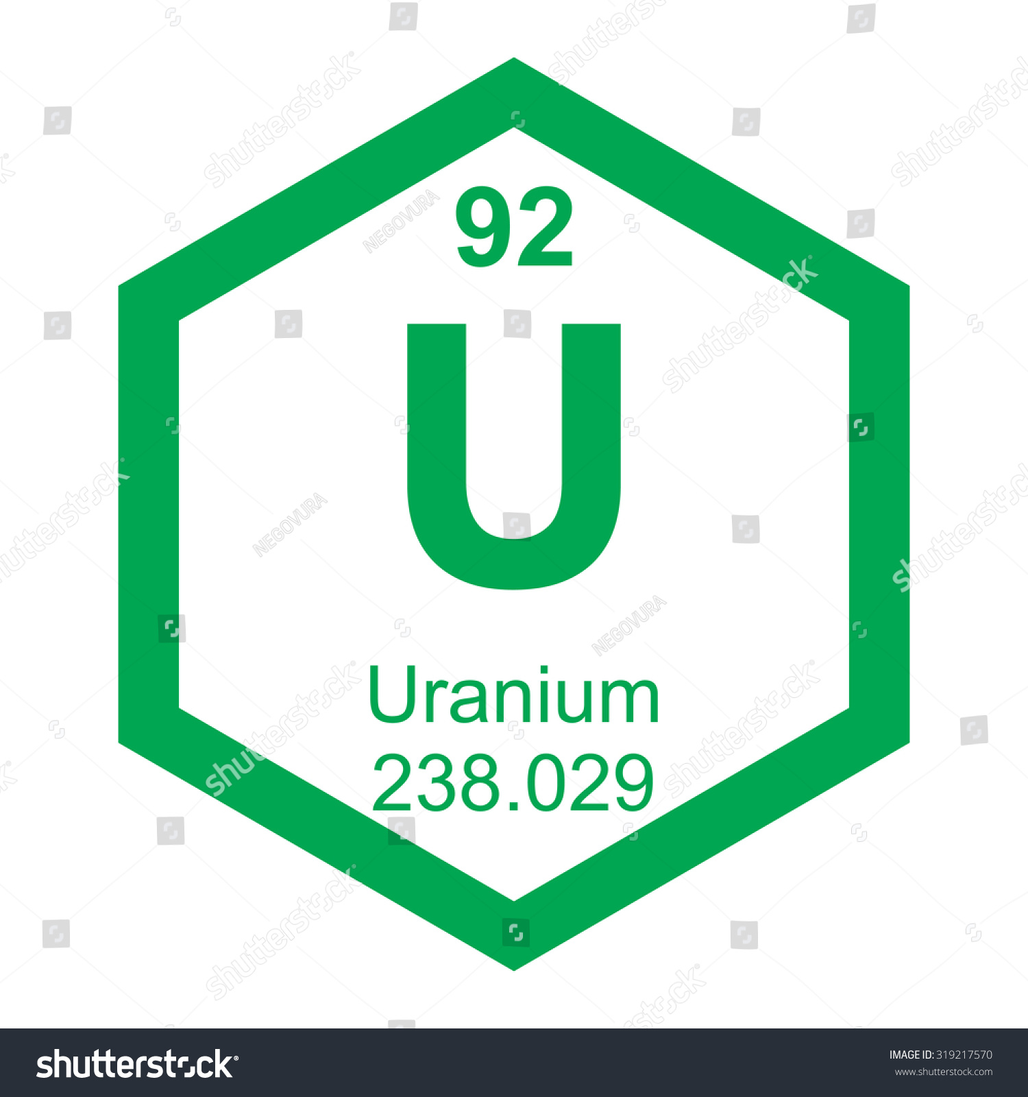 Periodic table uranium element stock vector 319217570 shutterstock periodic table uranium element gamestrikefo Image collections