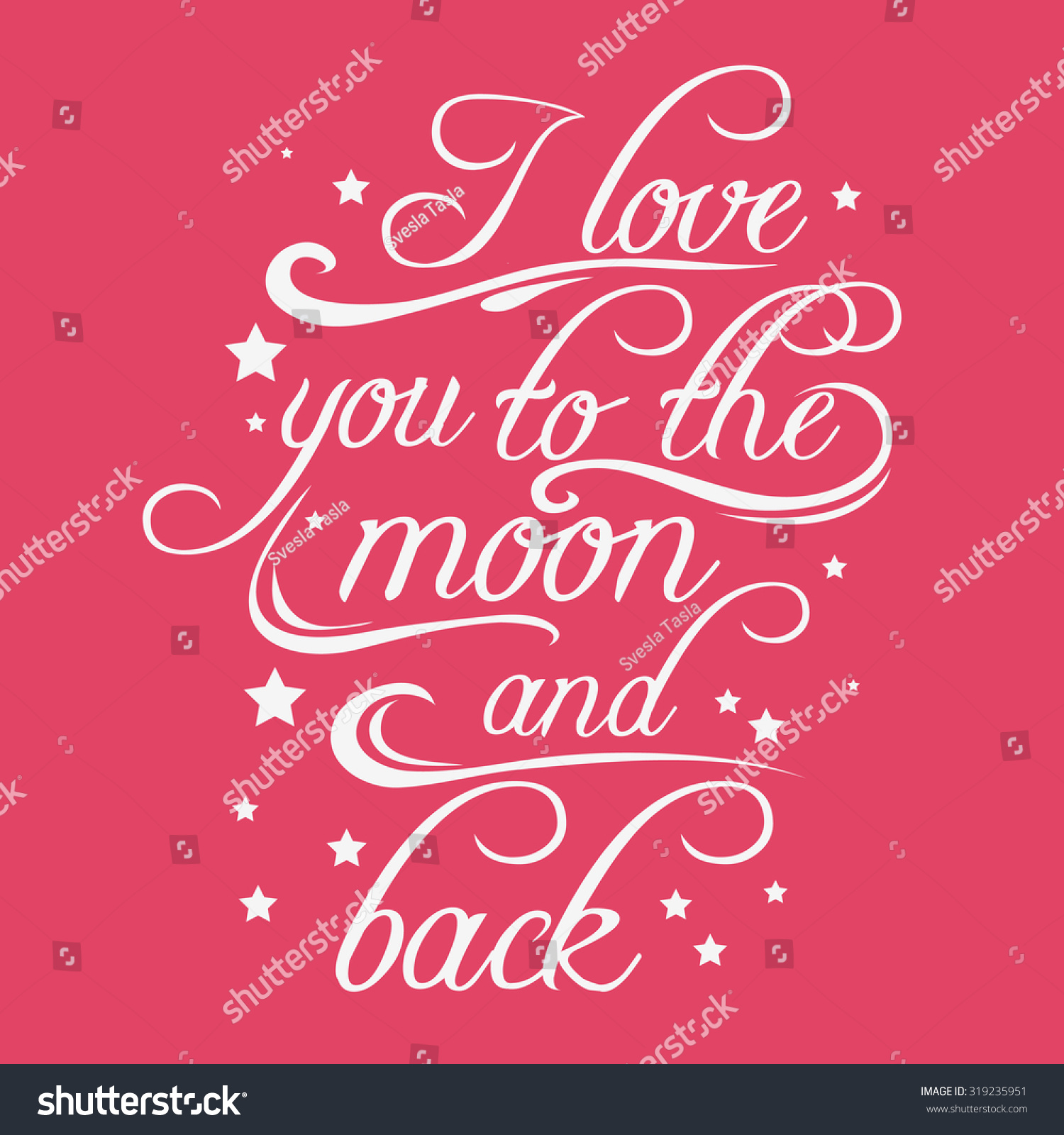 Romantic I Love You Quotes Typography Poster Romantic Quote Love You Stock Vector 319235951