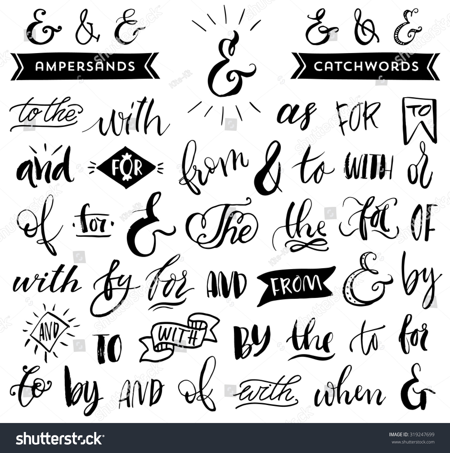vector hand drawn calligraphic - photo #15