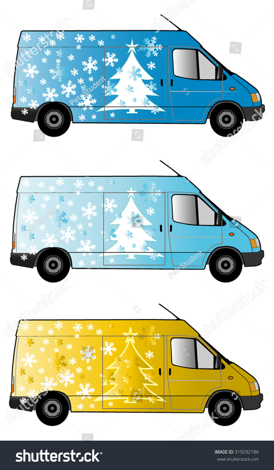Christmas Gifts Delivery Car Stock Vector (Royalty Free) 319292186 ...