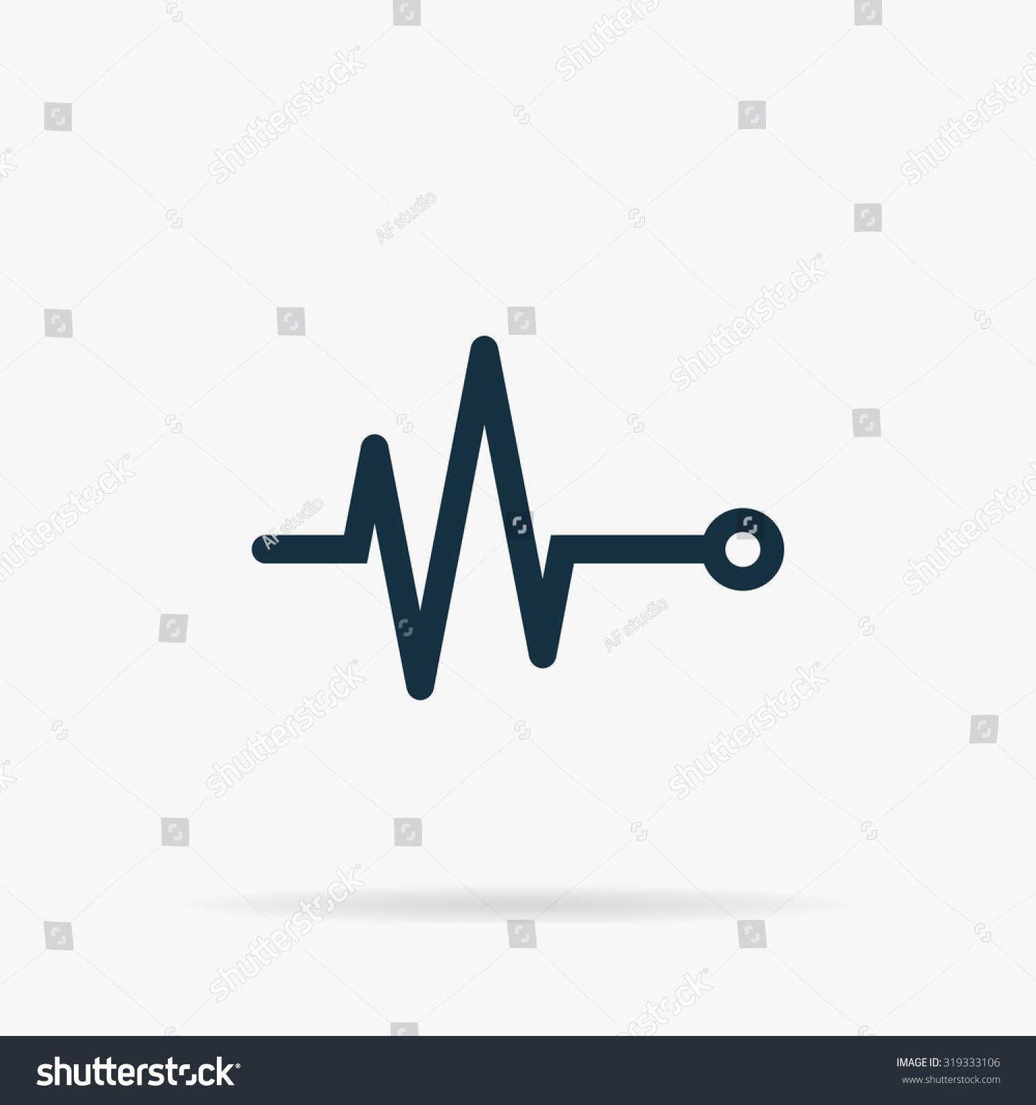 life line heart beat cardiogram flat のベクター画像素材
