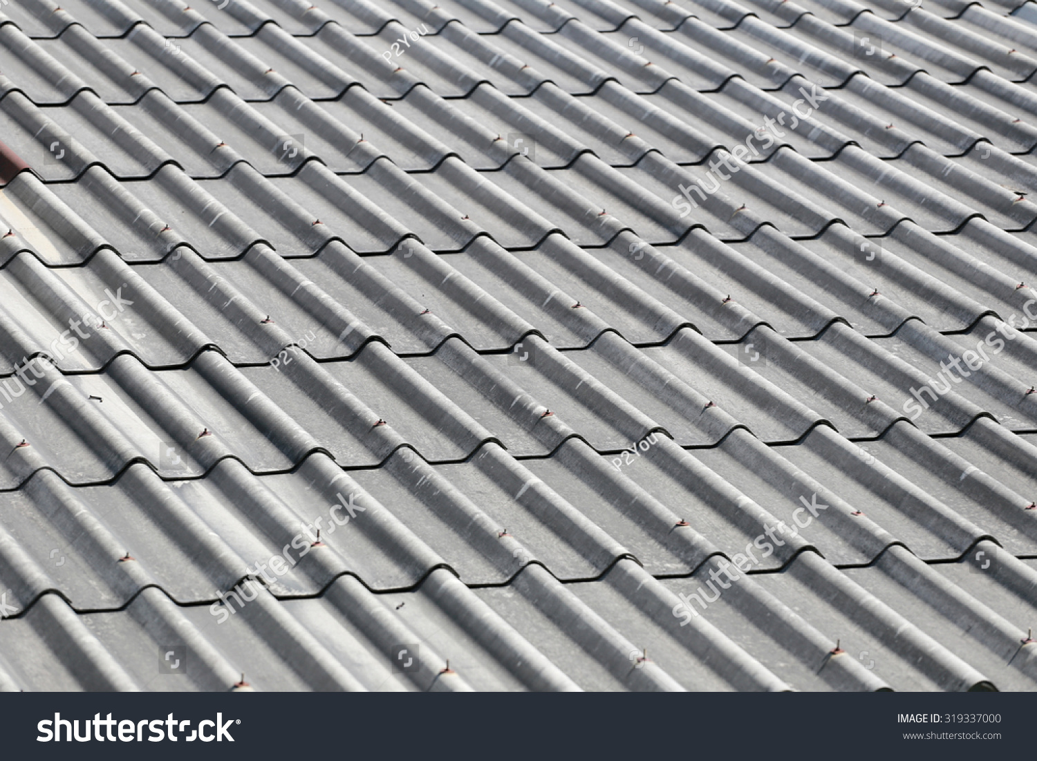 Old Weathered Tile Roof Design Background Stock Photo Edit Now 319337000