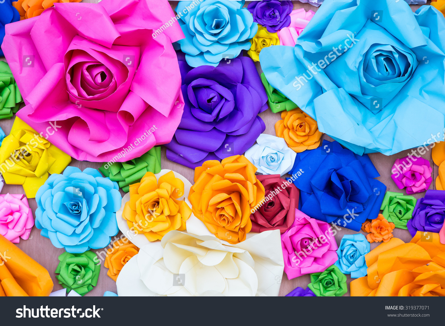 Abstract Wallpaper Rainbow Colorful Rose Flower Stock Photo 100