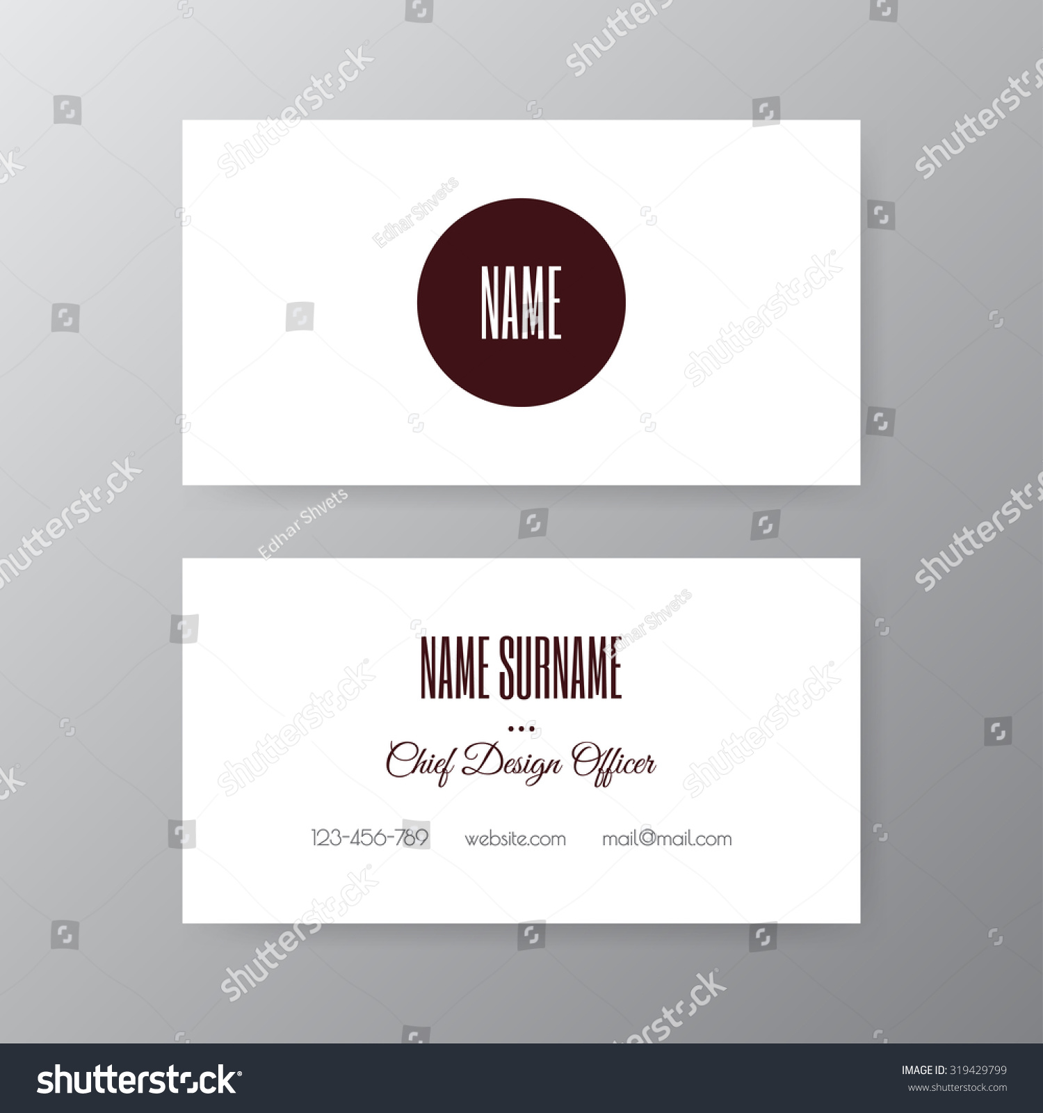 Editable business card set 85 x stock vector 319429799 shutterstock editable business card set 85 x 55 mm stylish professional and designer business card reheart Choice Image
