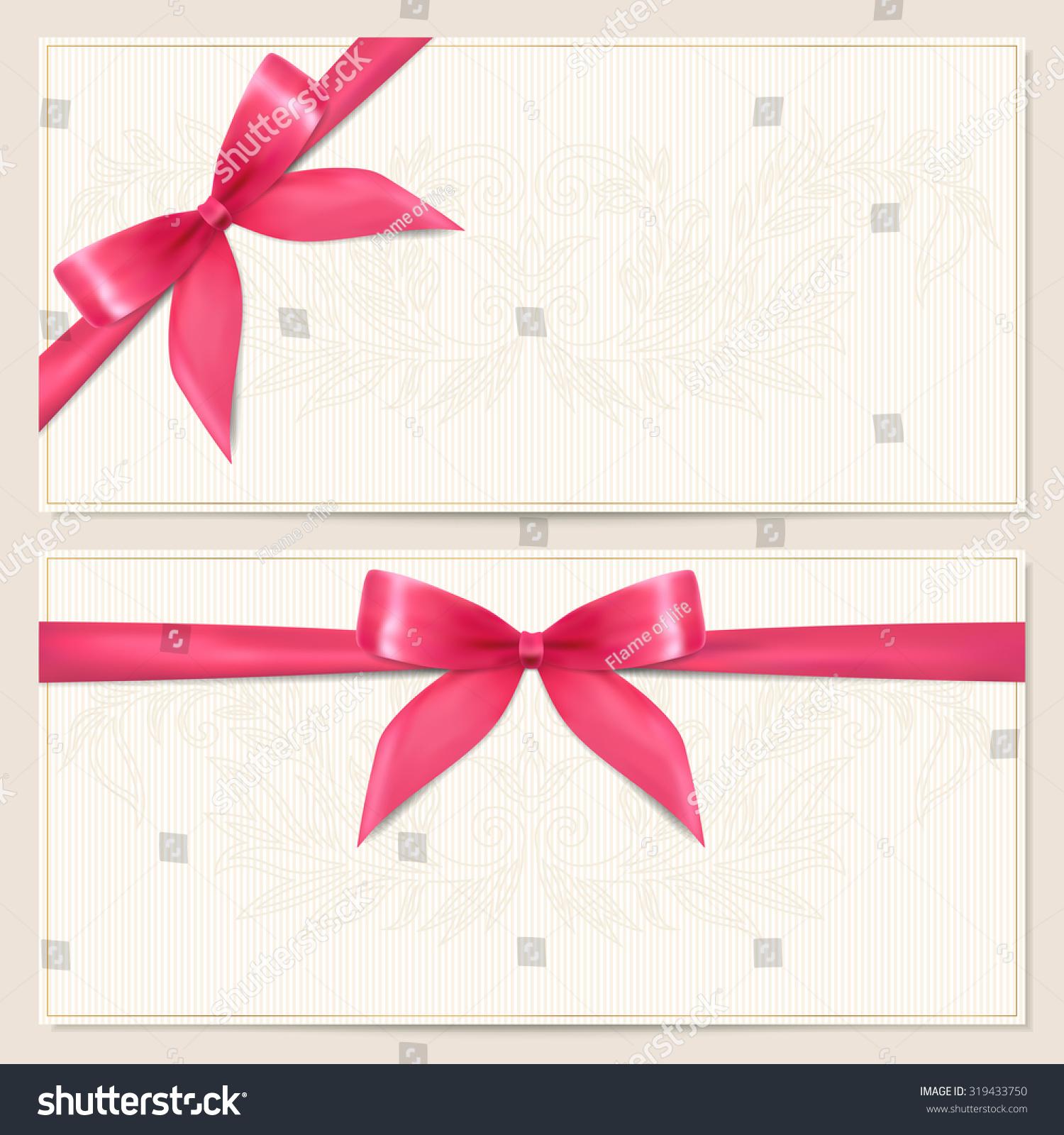 Gift Certificate Voucher Coupon Invitation Gift Stock Illustration