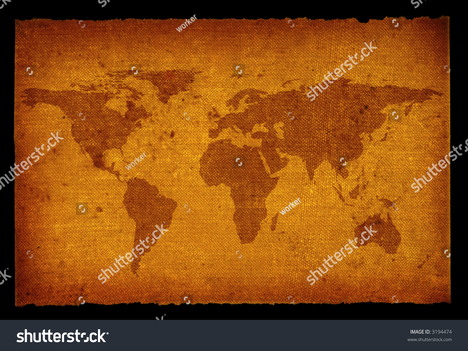 Old grunge world map isolated on stock photo 3194474 shutterstock old grunge world map isolated on black background gumiabroncs Gallery