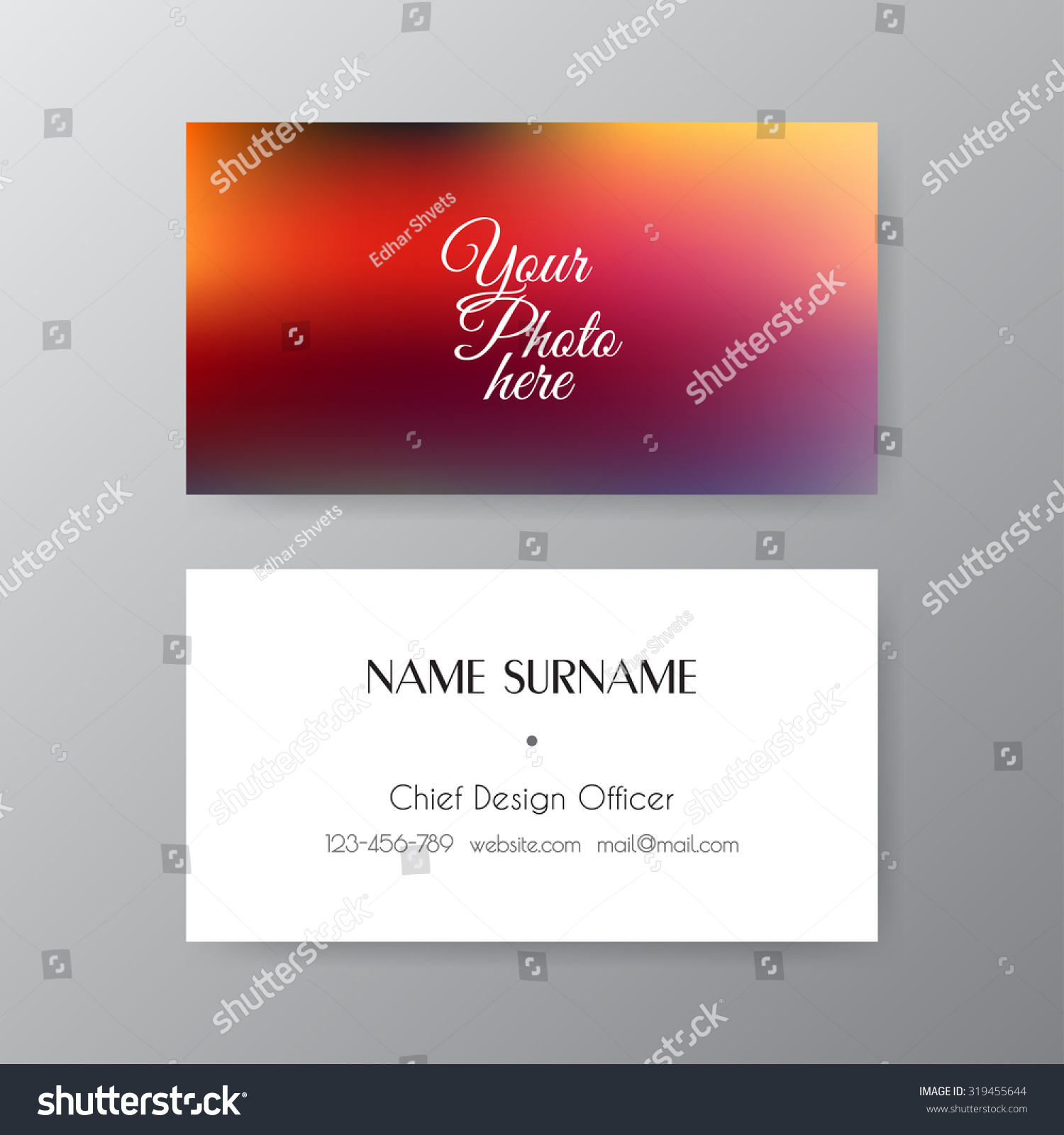 Editable business card set 85 x stock vector 319455644 shutterstock editable business card set 85 x 55 mm stylish professional and designer business card reheart Choice Image