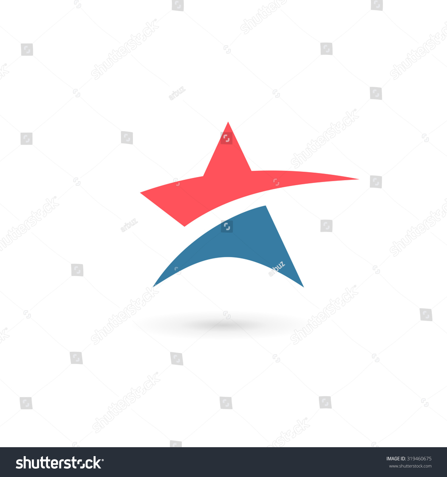 abstract star logo icon design template のベクター画像素材