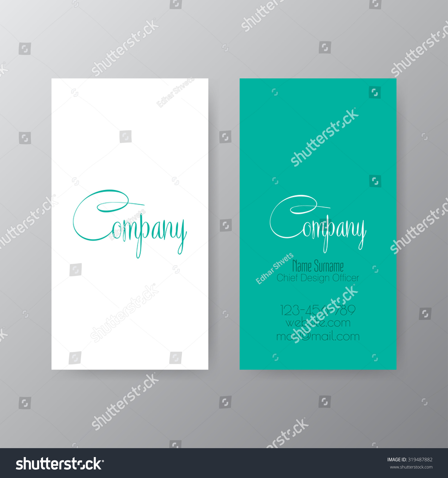 Editable Business Card Set 85 X Stock Vector 319487882 - Shutterstock