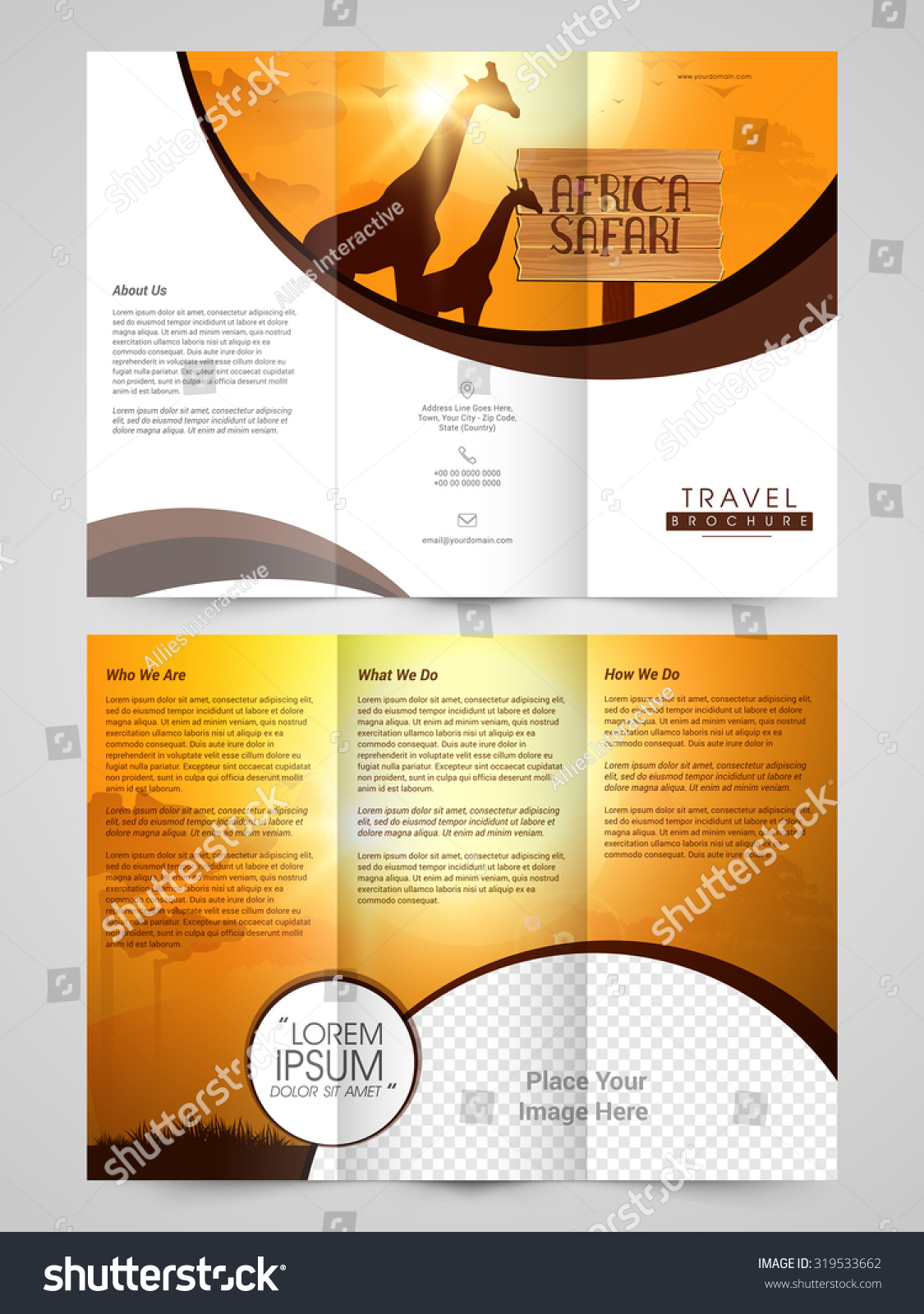 Tri Fold Brochure Background Design Nature