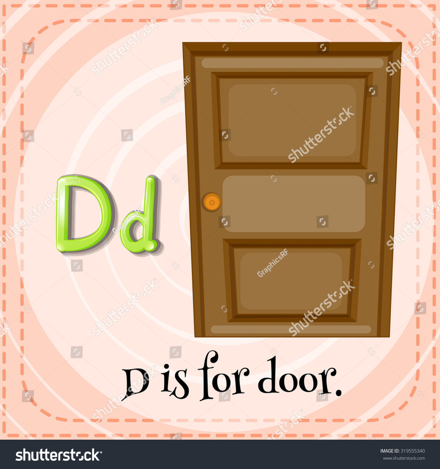 Flashcard letter D is for door illustration  sc 1 st  Shutterstock & Flashcard Letter D Door Illustration Stock Photo (Photo Vector ...