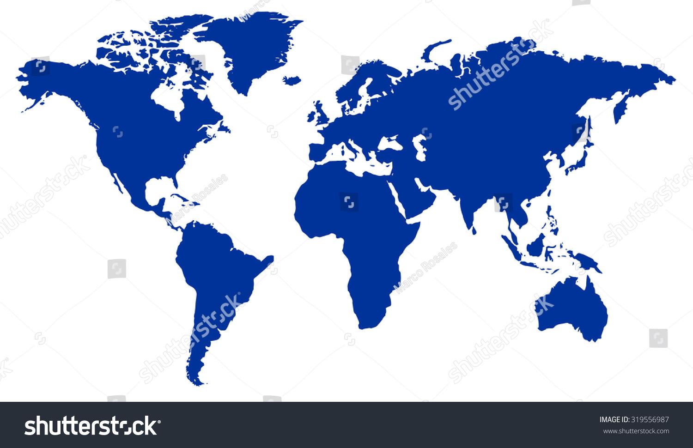 World Map Navy Blue Stock Vector Royalty Free 319556987 Shutterstock