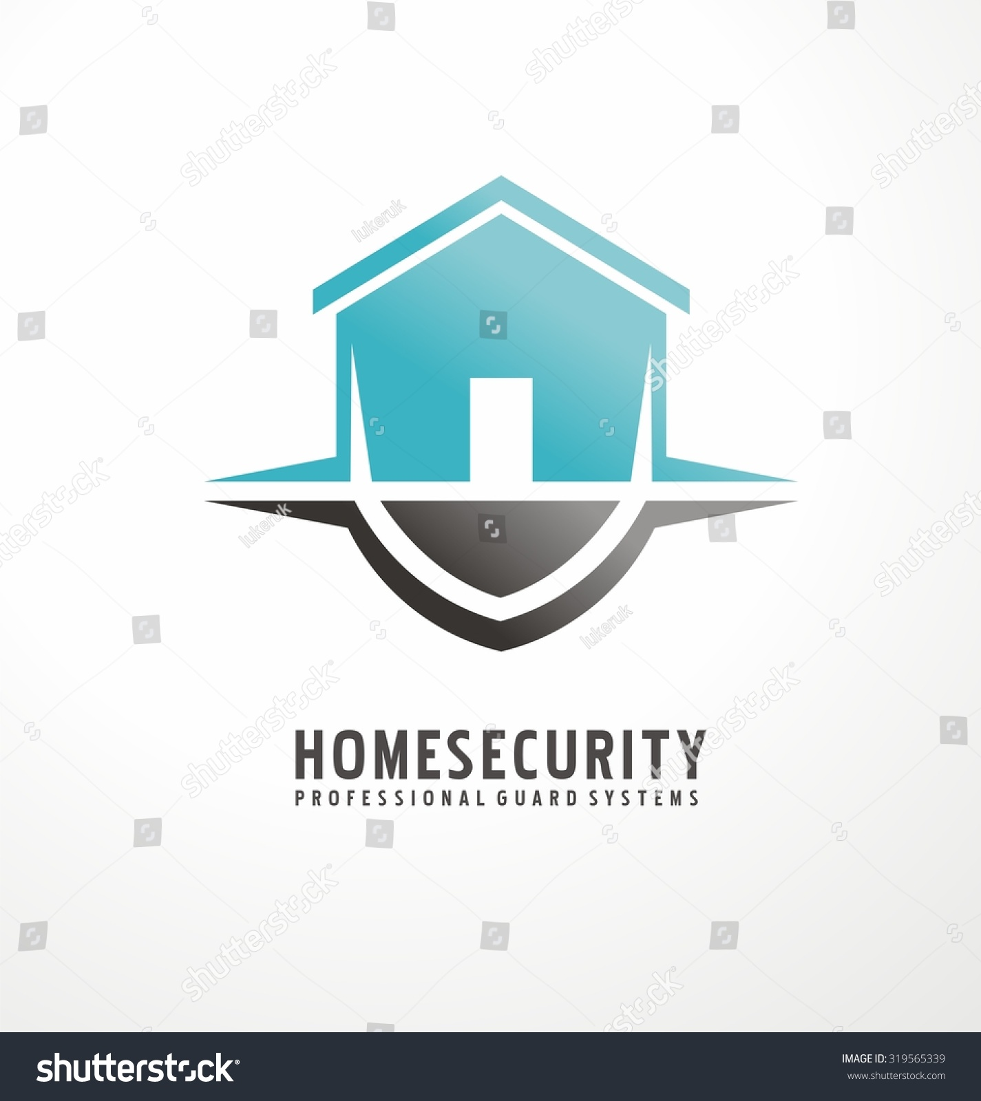 creative logo design with house shape as part of the