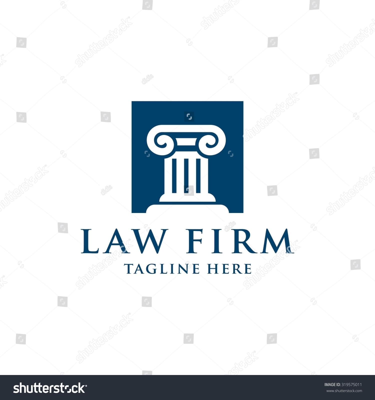 Law Firm Logo Template Stock Vector 319575011 - Shutterstock