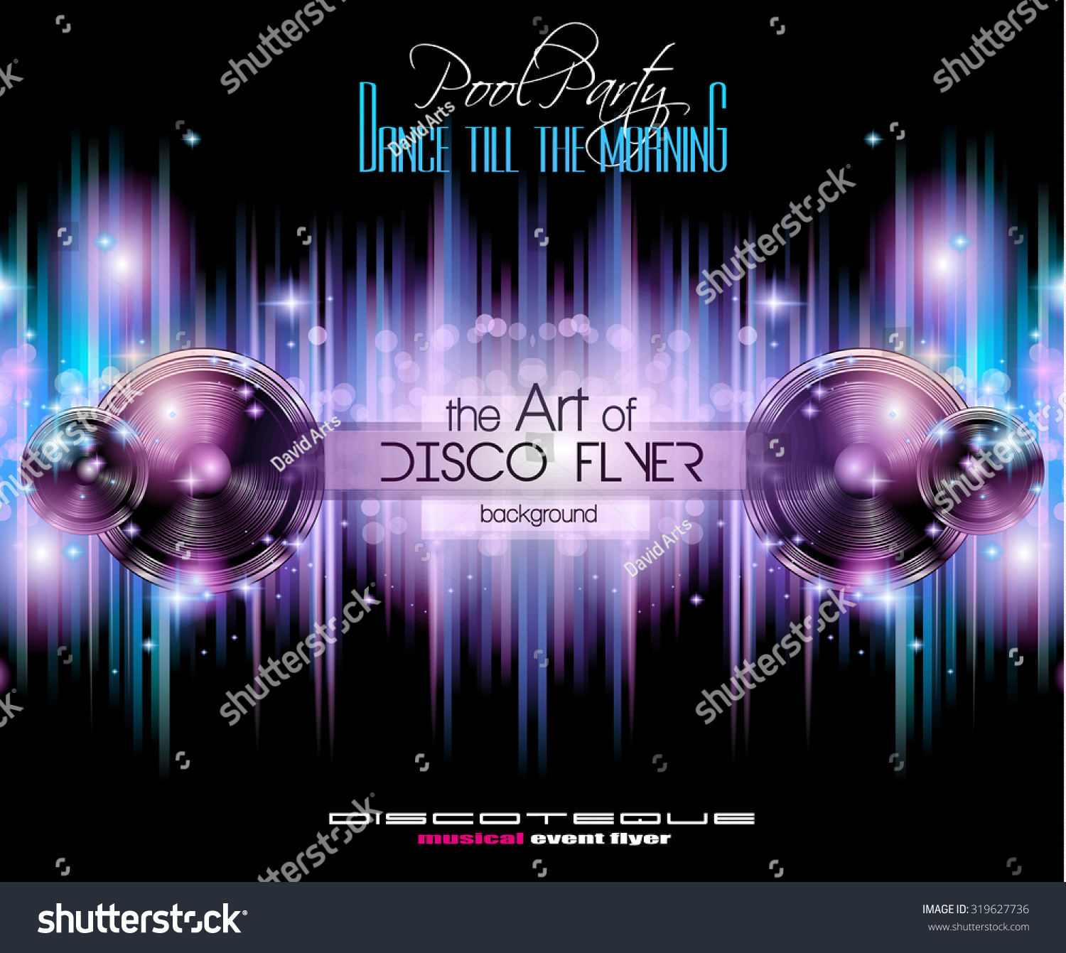 Disco Club Flyer Template Your Music Stock Illustration 319627736 ...