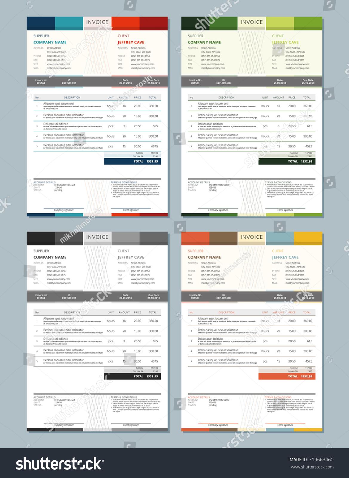 Design Architect Invoice Template