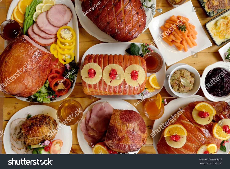 christmas ham dinner table - photo #19