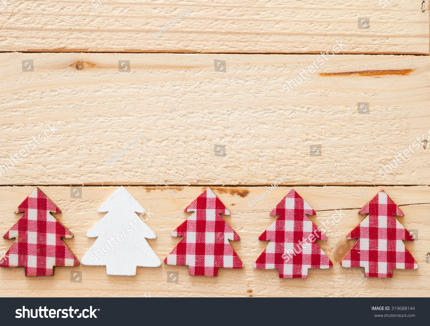 rustic christmas background with red plaid christmas tree - Rustic Christmas Background
