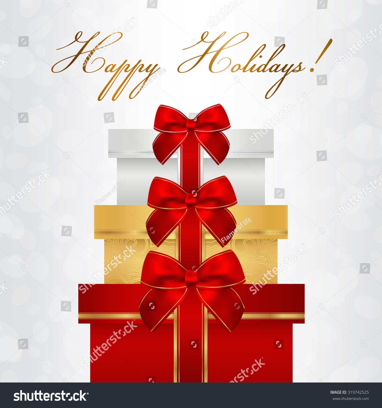 Holiday Card Christmas Card Birthday Card Vector 319742525 – Birthday Card Gift