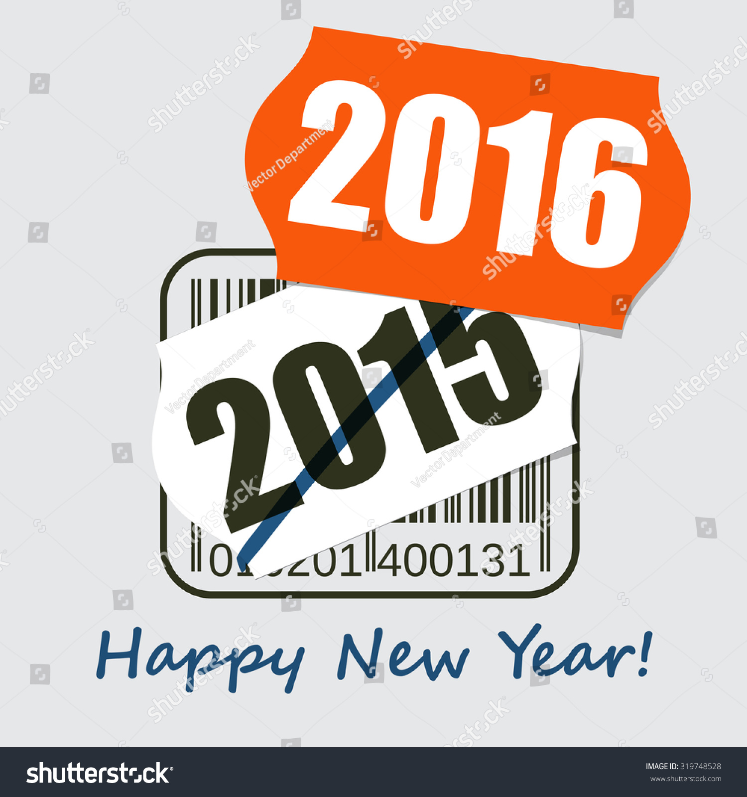 Royalty-free New Year Greeting Poster, Card,… #319748528 Stock Photo ...