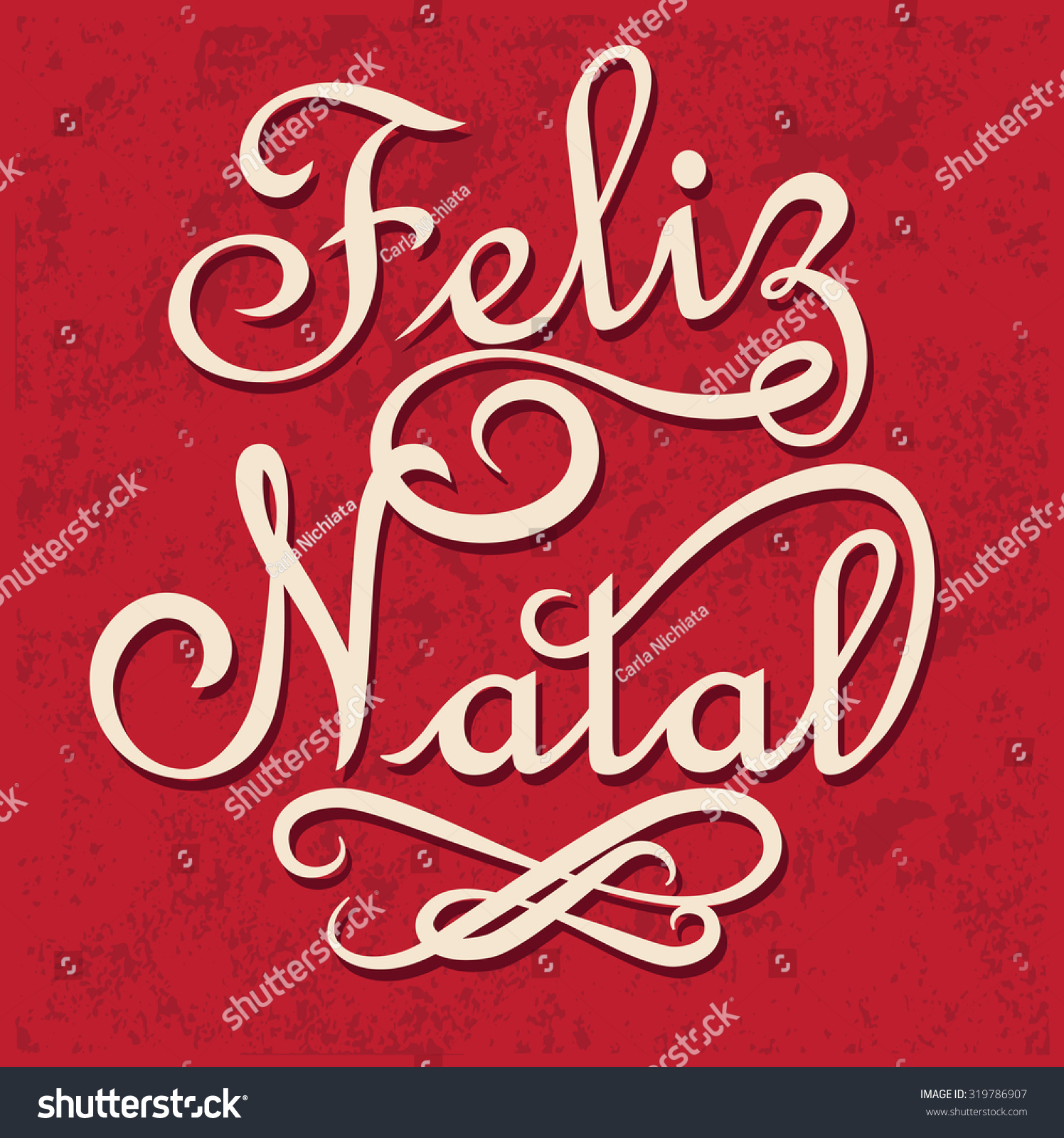 Merry Christmas Portuguese Language Feliz Natal Stock Vector ...