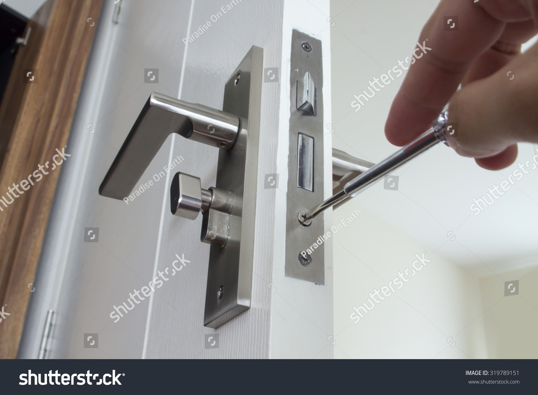 Locksmith Repair Install Door Lock House Stock Photo 319789151