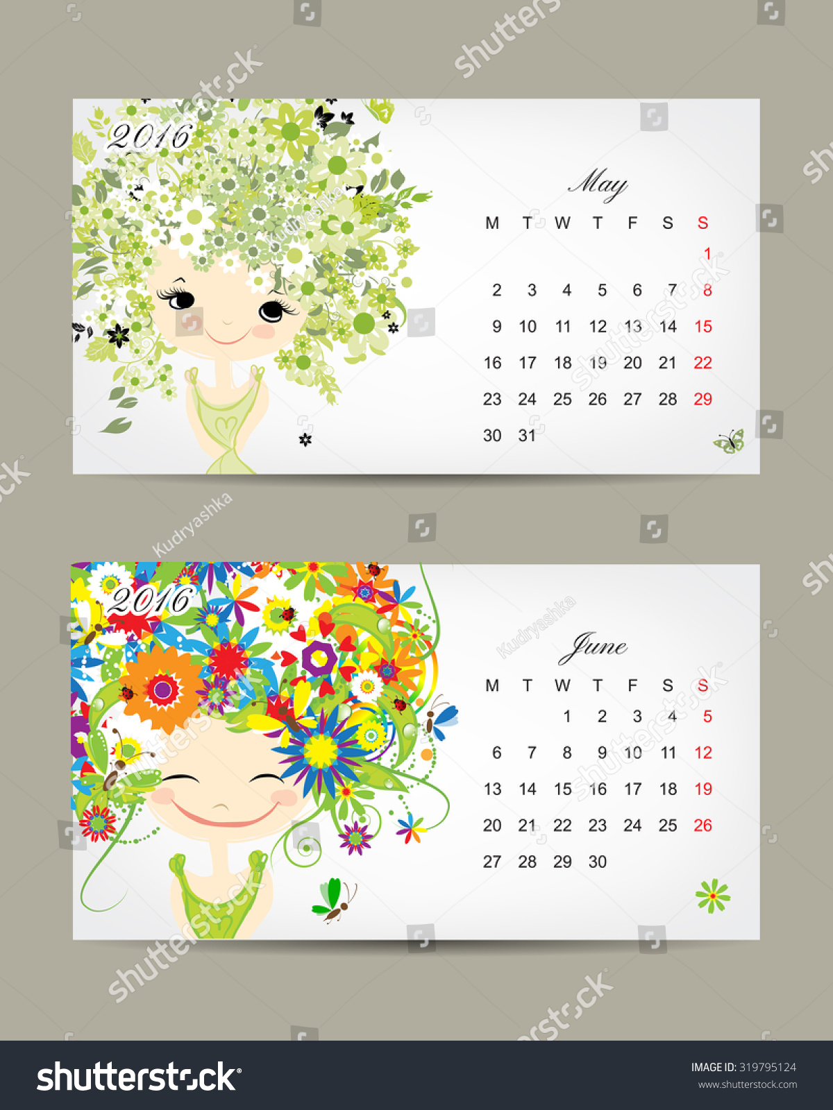 Calendar Month Illustration : Calendar may june months season stock vector