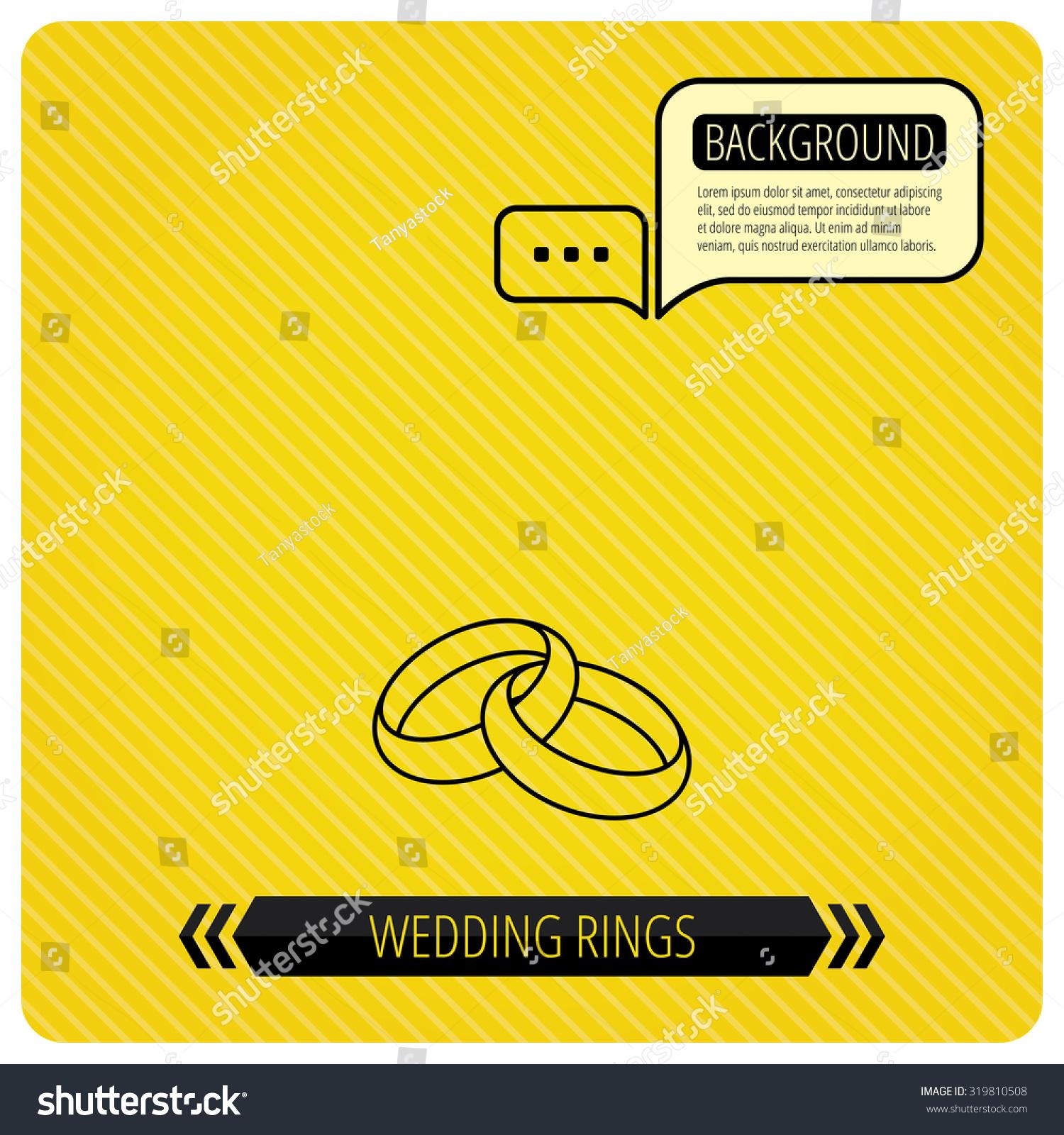 Wedding Rings Icon Bride Groom Jewelery Stock Vector 319810508