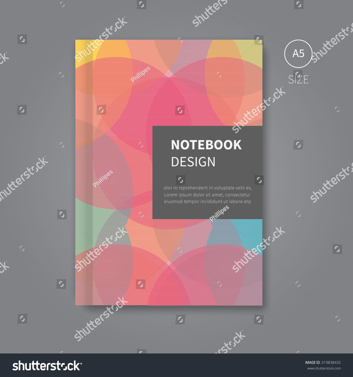 Modern Book Cover Design Template : Modern scrapbook book cover layout background stock vector
