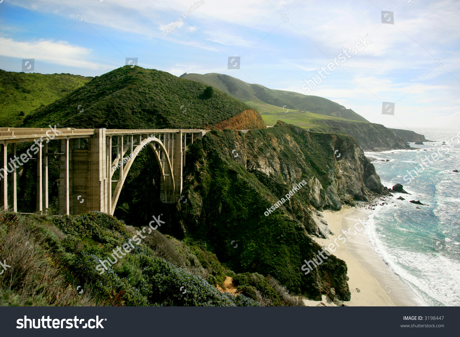 California Highway 101 River Mountain Scenery Drivng Redwood ...