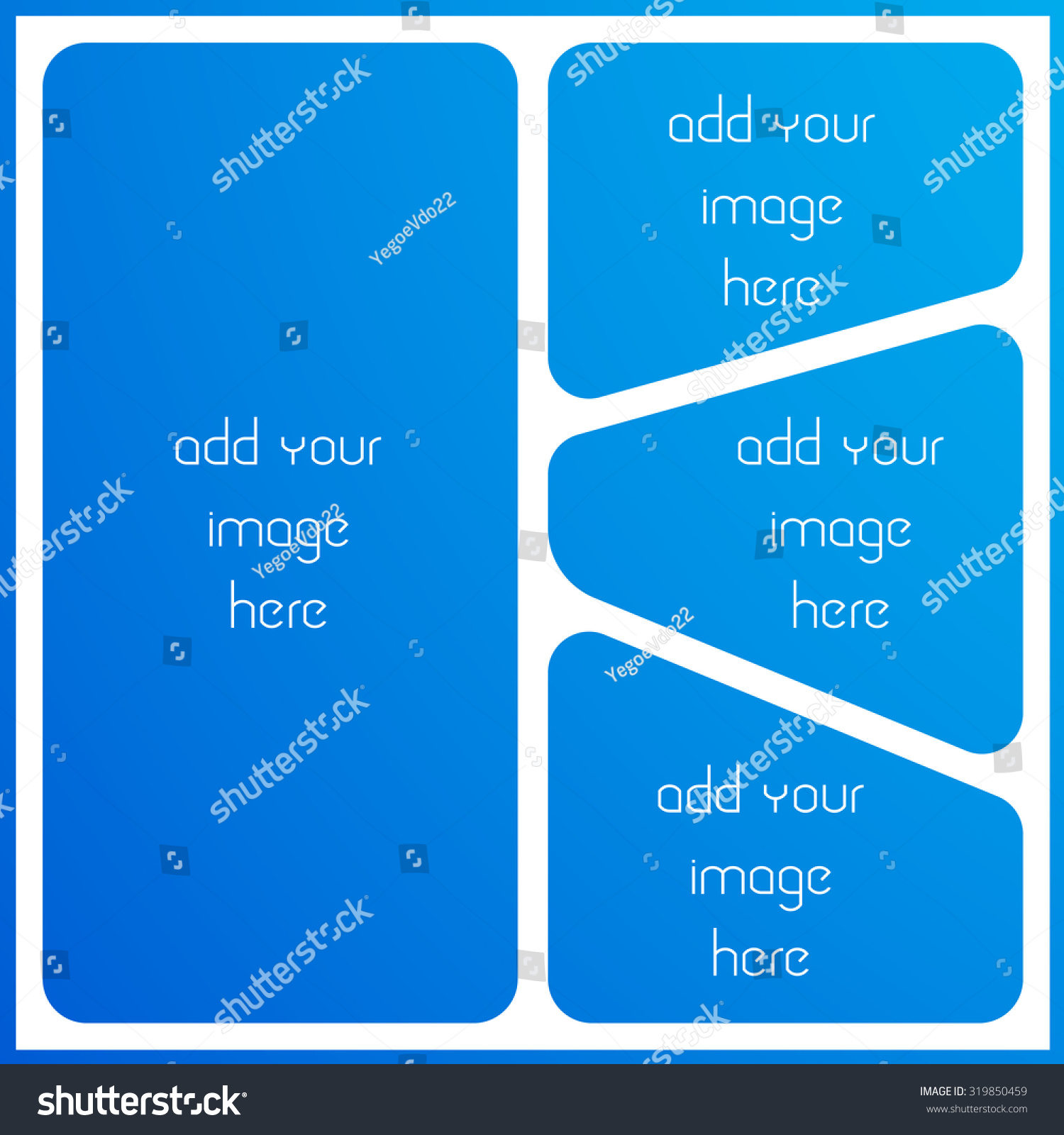 Photo Collage Frame Empty Frame Places Stock Vector (Royalty Free ...