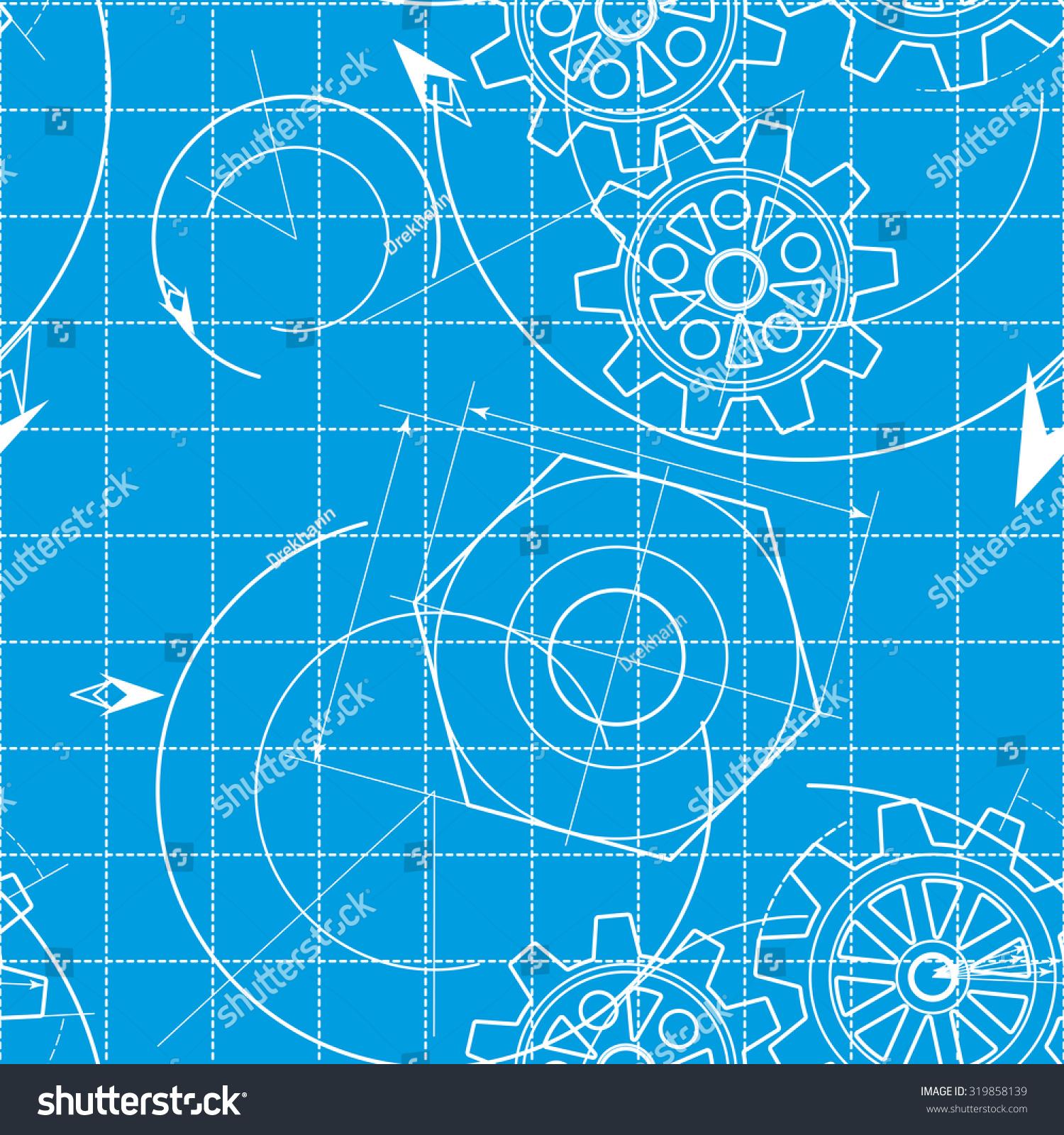 Blueprint pattern gears stock illustration 319858139 shutterstock blueprint pattern with gears malvernweather Images