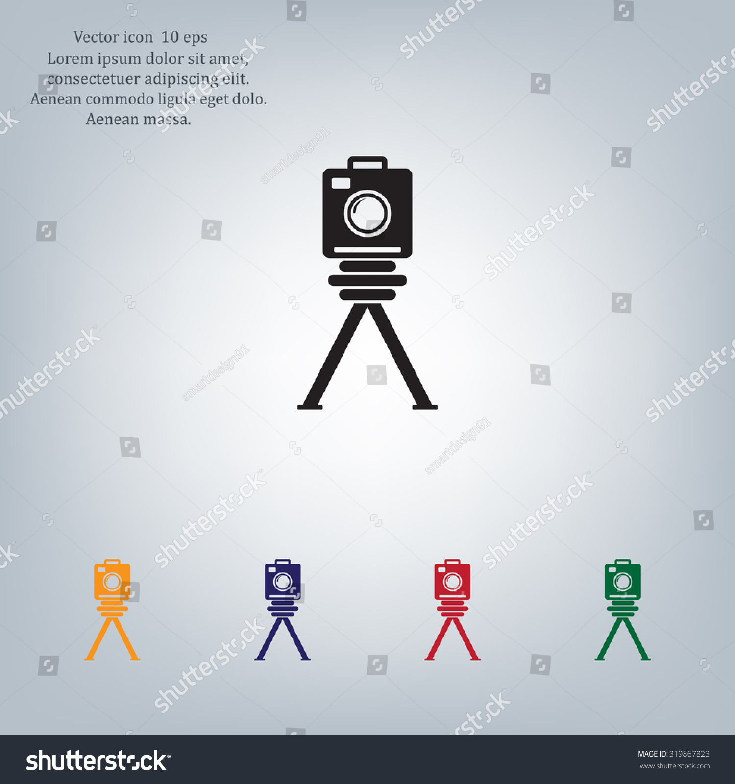 photo camera icon Vector Eps 10