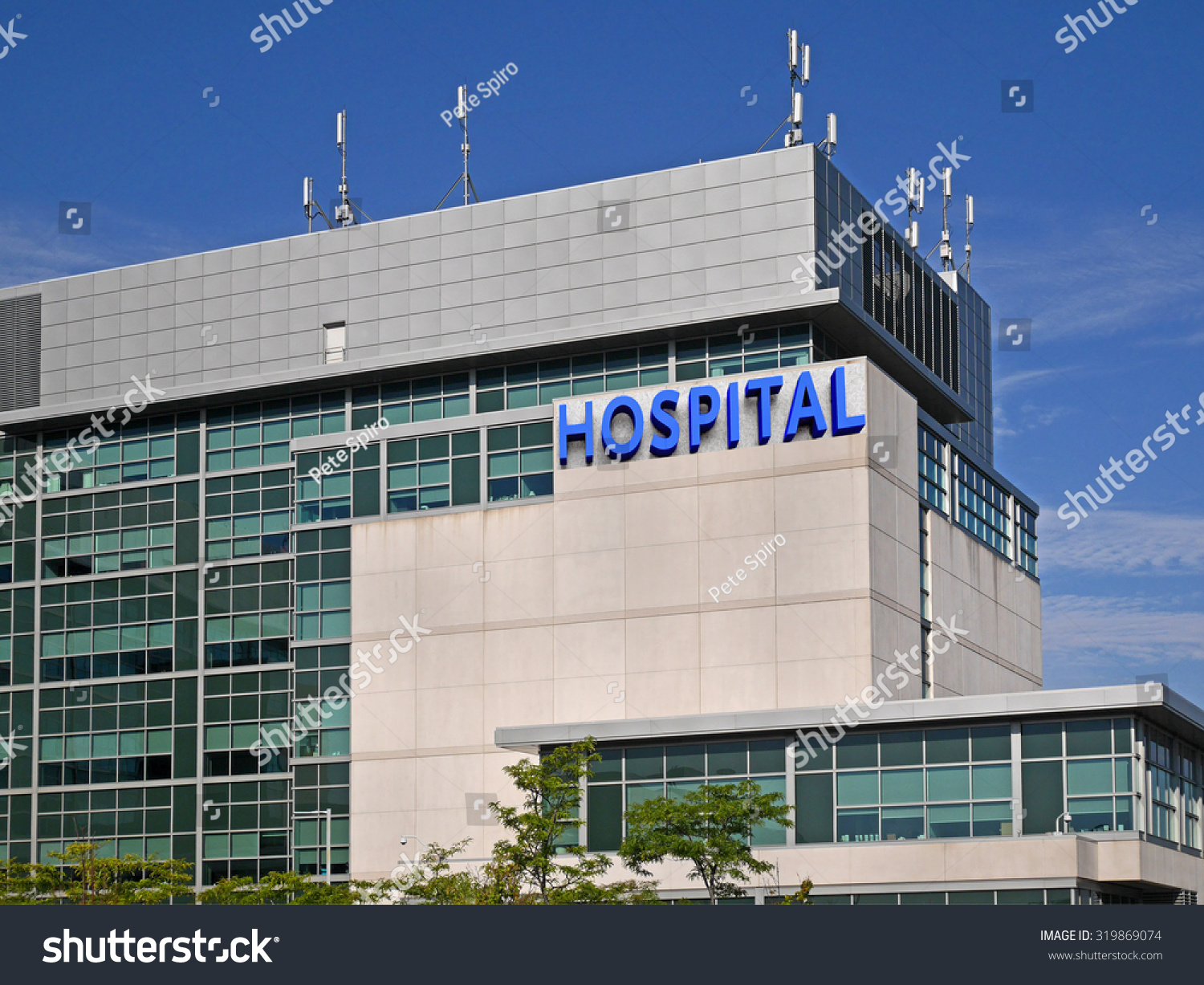 Modern hospital style building stock photo 319869074 shutterstock modern hospital style building malvernweather Images