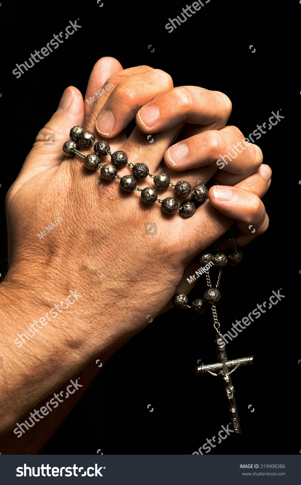 Rosary with his hands 66