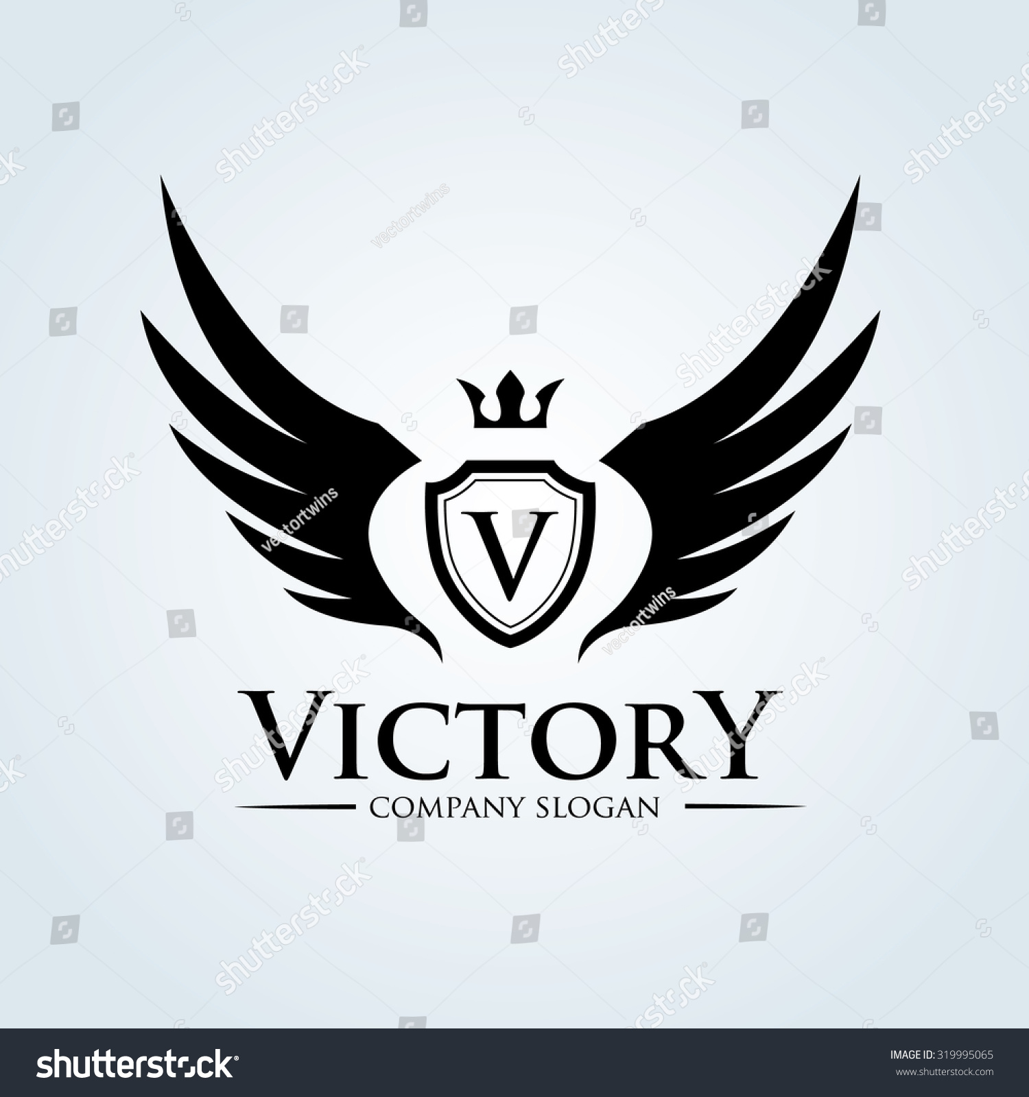 victory logo template stock vector royalty free 319995065