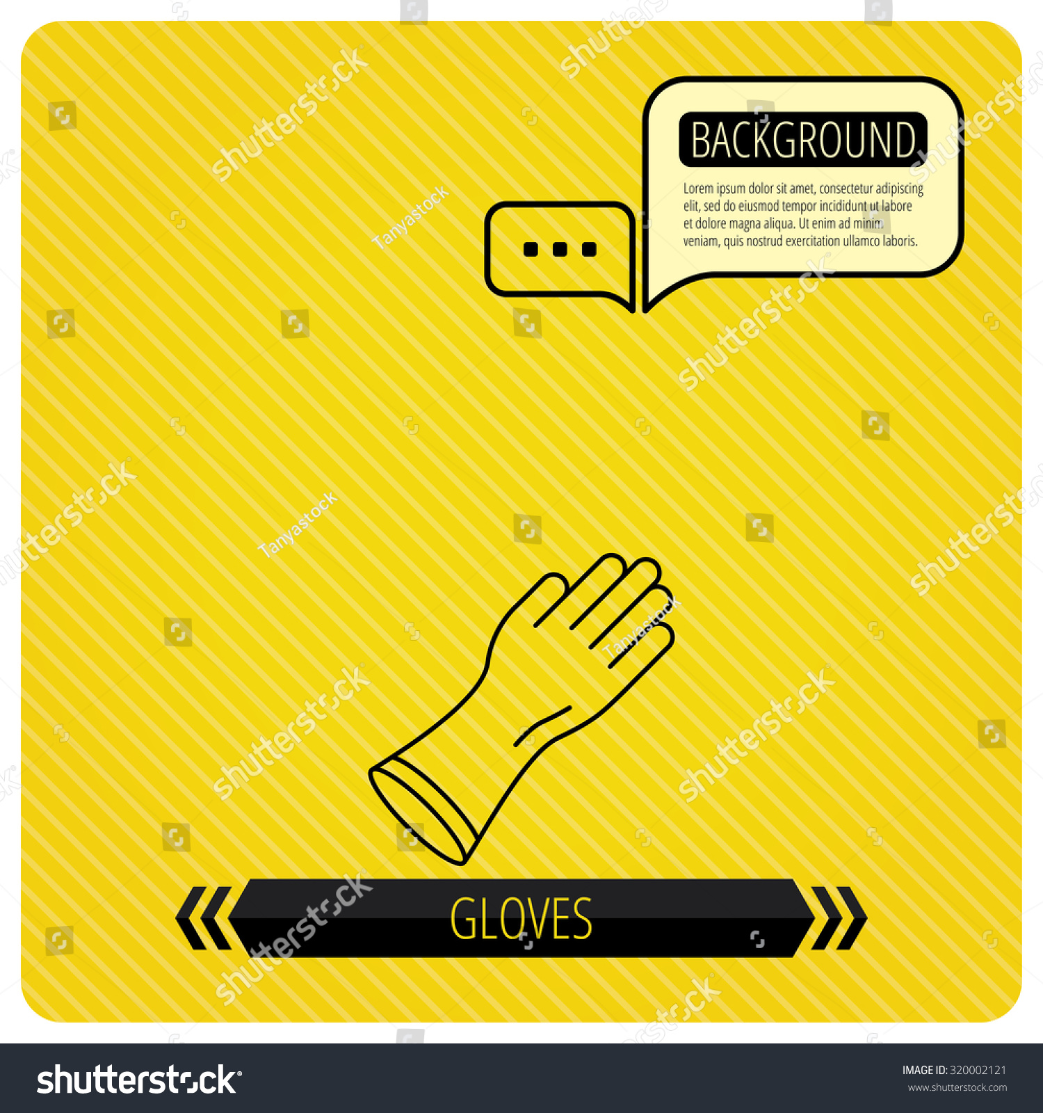 Rubber gloves icon latex hand protection stock vector 320002121 latex hand protection sign housework cleaning equipment symbol chat speech biocorpaavc