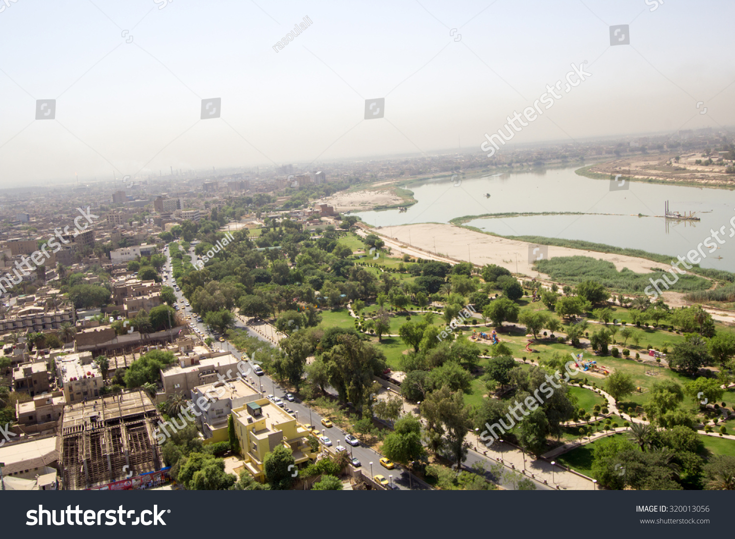 Baghdad Iraq a September 16 2015 Aerial photo of the city of Baghdad Iraq