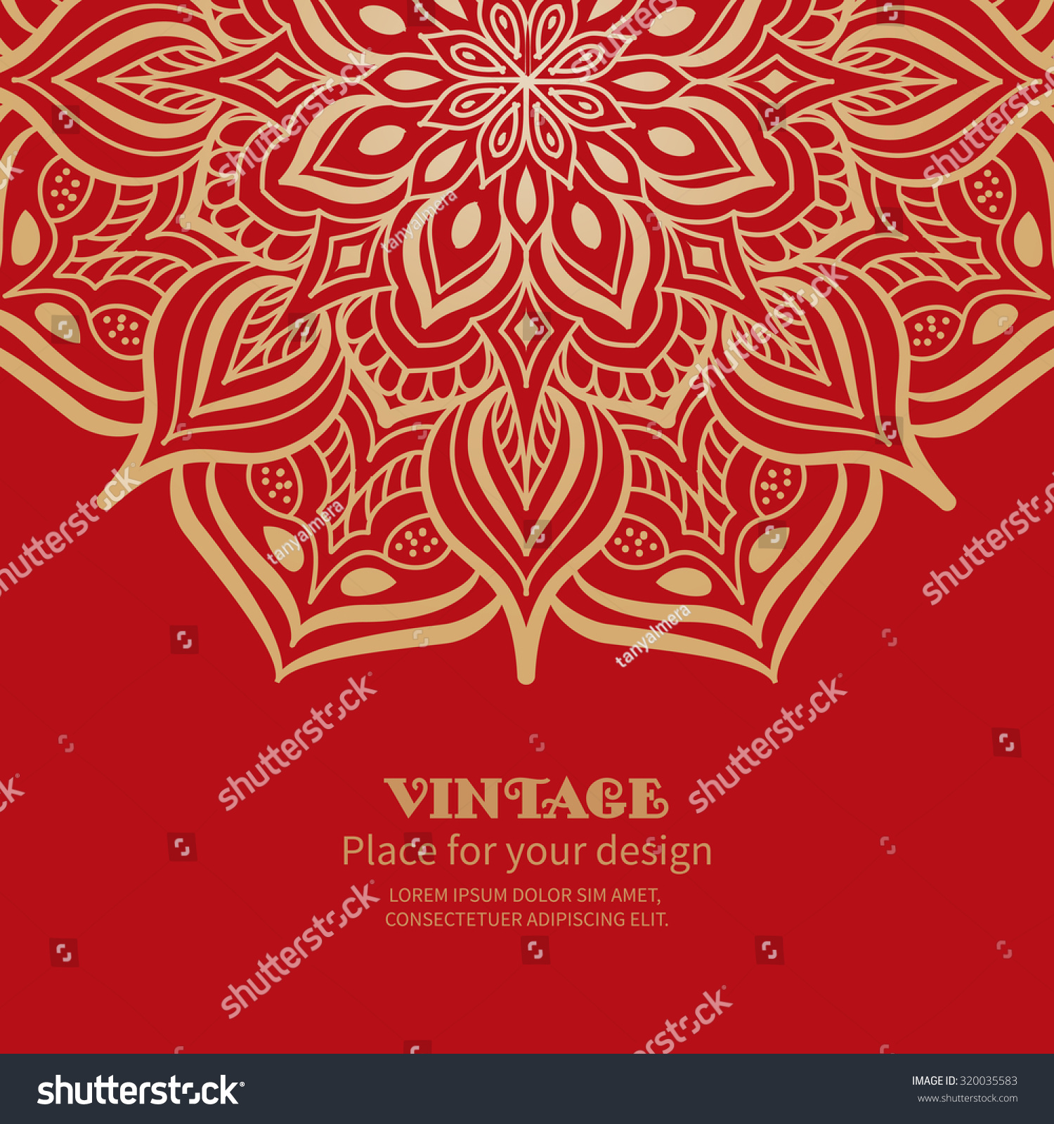Wedding Invitation Greeting Card Floral Ornament Stock Vector ...