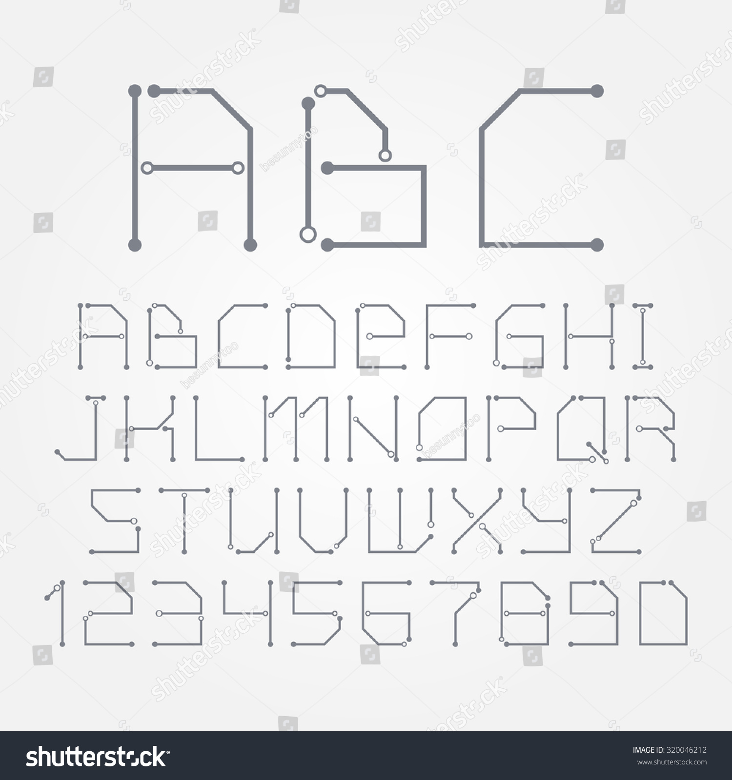 Astounding Circuit Board Form Letters Numbers Vector Stock Vector Royalty Free Wiring 101 Breceaxxcnl