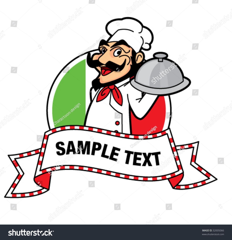 Italian Chef Vector Stock Vector 32005066 - Shutterstock