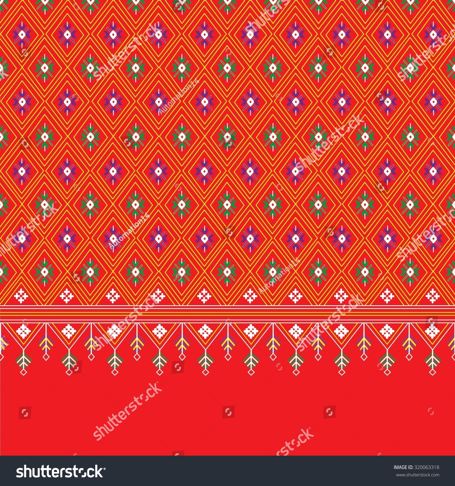 Geometric ethnic pattern design for background carpet