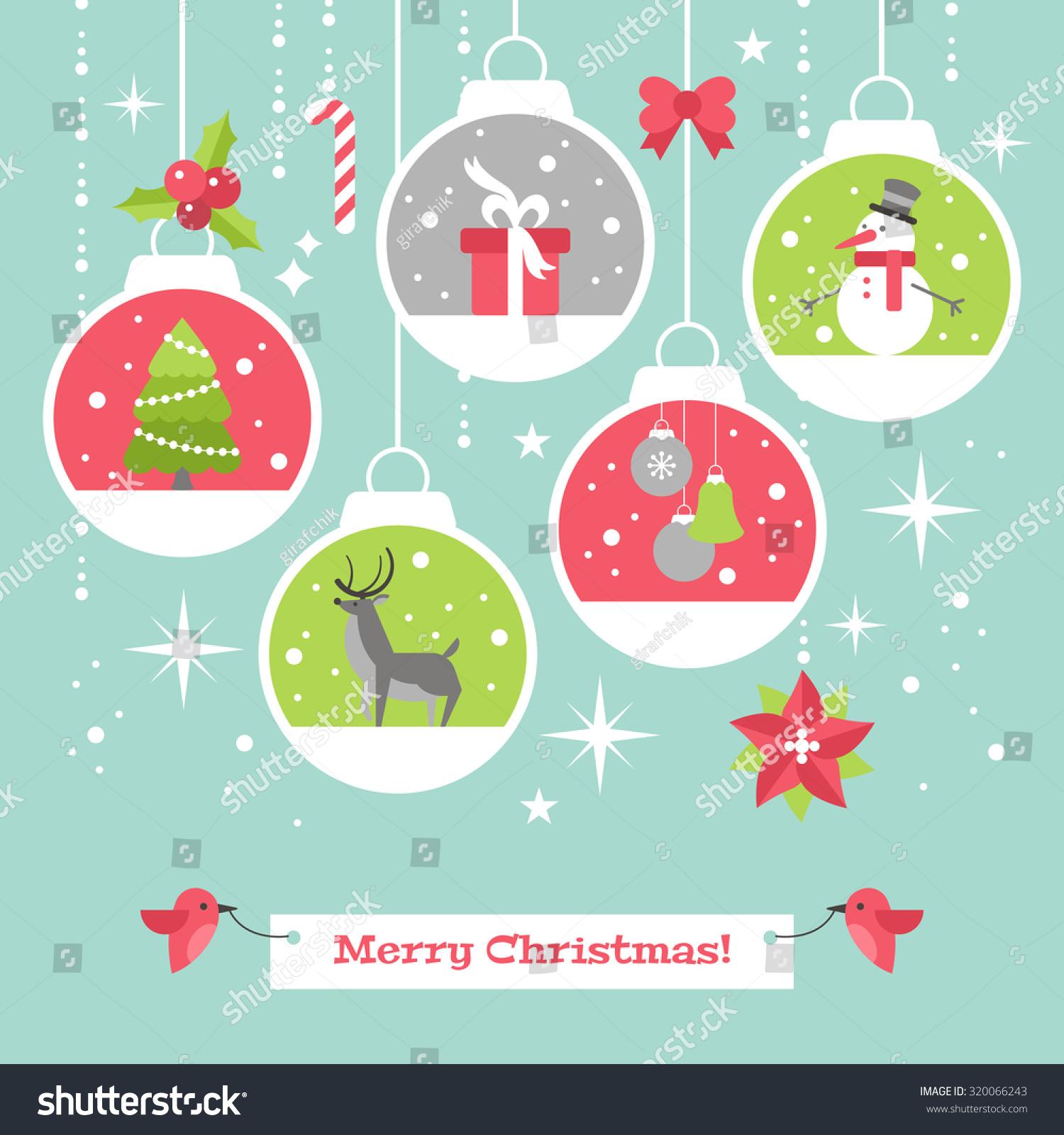 Royalty-free Modern Christmas card flat stylish… #320066243 Stock ...