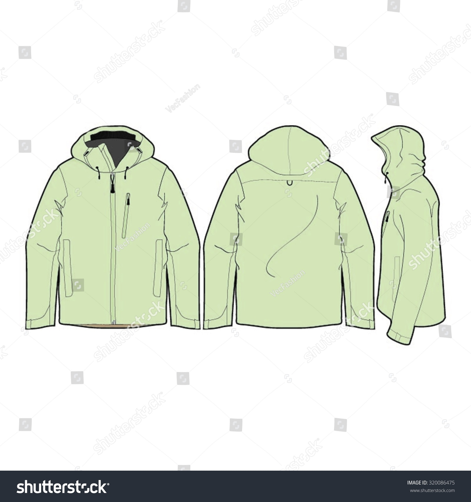 b369d55712 Outdoor Climbing Jacket Template Stock Vector (Royalty Free) 320086475