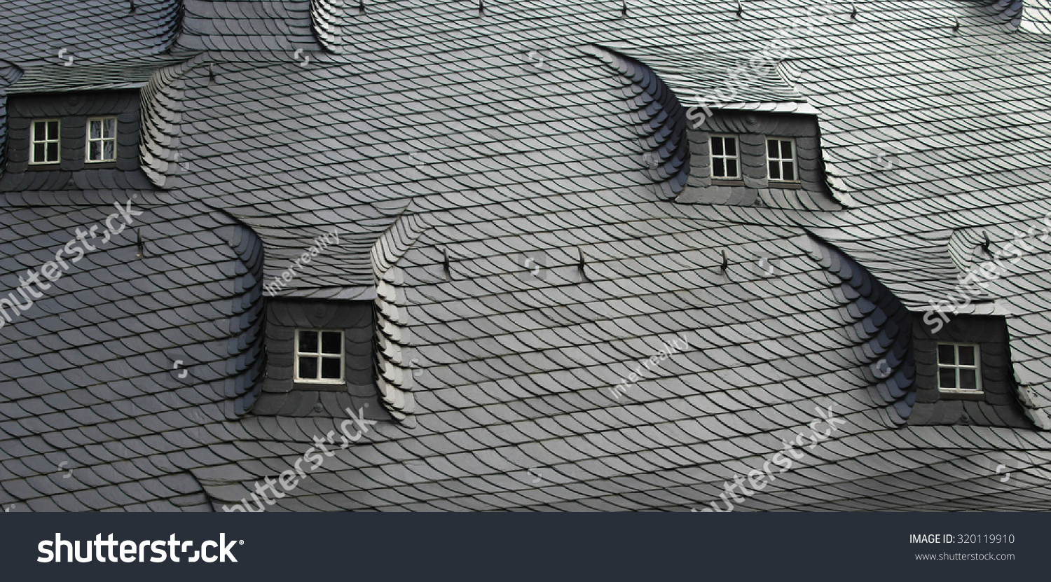 Traditional slate shale tiles roof attic stock photo 320119910 shutterstock - Traditional houses attic ...
