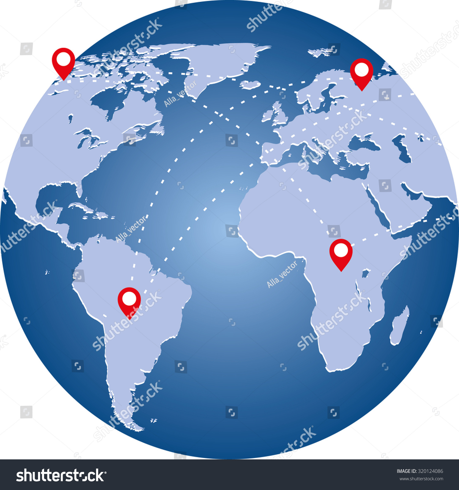 Planet image world map connection lines stock vector 320124086 planet image with world map and connection lines technology image of globe gumiabroncs Choice Image